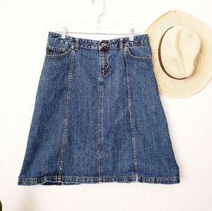 Columbia Denim Jean Outdoor Active Wear Skirt 12